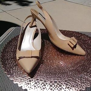 Beige heels (low heel)